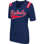 Colosseum Athletics Women's Ole Miss Rebels Blue Artistic V-Neck T-Shirt