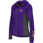 Colosseum Athletics Women's LSU Tigers Purple Corridor Performance Windbreaker Jacket
