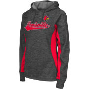 Colosseum Athletics Women's Louisville Cardinals Grey Performance Hoodie