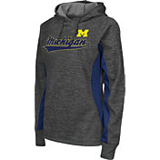 Colosseum Athletics Women's Michigan Wolverines Grey Performance Hoodie