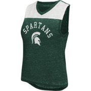Colosseum Athletics Women's Michigan State Spartans Green Kiss Cam Tank