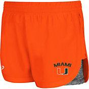 Colosseum Athletics Women's Miami Hurricanes Orange Runaway Shorts