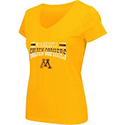 Colosseum Athletics Women's Minnesota Golden Gophers Gold Graphic V-Neck T-Shirt