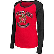 Colosseum Athletics Women's Maryland Terrapins Red Healy Long Sleeve Shirt