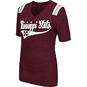 Colosseum Athletics Women's Mississippi State Bulldogs Maroon Artistic V-Neck T-Shirt
