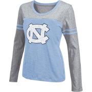 Colosseum Athletics Women's UNC Tar Heels Carolina Blue Leap Scoop Neck Long Sleeve Shirt