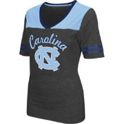 Colosseum Athletics Women's UNC Tar Heels Grey Twist V-Neck T-Shirt