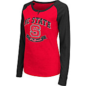 Colosseum Athletics Women's NC State Wolfpack Red Healy Long Sleeve Shirt