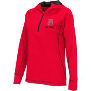 Colosseum Athletics Women's North Carolina State Wolfpack Red Perfect Quarter-Zip Hoodie