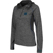 Colosseum Women's Notre Dame Fighting Irish Grey Downhill Quarter-Zip Hooded Wind Shirt