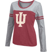Colosseum Athletics Women's Indiana Hoosiers Crimson Leap Scoop Neck Long Sleeve Shirt