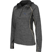 Colosseum Women's Pittsburgh Panthers Grey Downhill Quarter-Zip Hooded Wind Shirt