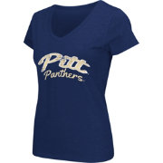 Colosseum Athletics Women's Pittsburgh Panthers Blue Script Graphic V-Neck T-Shirt