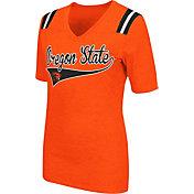 Colosseum Athletics Women's Oregon State Beavers Orange Artistic V-Neck T-Shirt