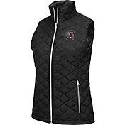 Colosseum Athletics Women's South Carolina Gamecocks Elite Quilted Black Vest