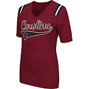 Colosseum Athletics Women's South Carolina Gamecocks Garnet Artistic V-Neck T-Shirt
