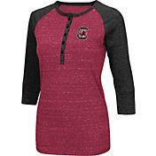 Colosseum Women's South Carolina Gamecocks Garnet Three-Quarter Sleeve Henley Shirt