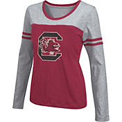 Colosseum Athletics Women's South Carolina Gamecocks Garnet Leap Scoop Neck Long Sleeve Shirt