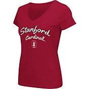 Colosseum Athletics Women's Stanford Cardinal Script Graphic V-Neck Cardinal T-Shirt