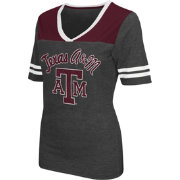 Colosseum Athletics Women's Texas A&M Aggies Grey Twist V-Neck T-Shirt