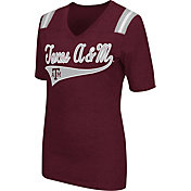 Colosseum Athletics Women's Texas A&M Aggies Maroon Artistic V-Neck T-Shirt