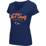 Colosseum Athletics Women's UTSA Roadrunners Blue Script Graphic V-Neck T-Shirt