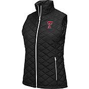Colosseum Athletics Women's Texas Tech Red Raiders Elite Quilted Black Vest