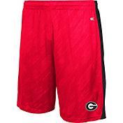 Colosseum Athletics Youth Georgia Bulldogs Red Sleet Performance Shorts