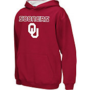 Colosseum Athletics Boys' Oklahoma Sooners Crimson Poly Fleece Hoodie