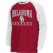 Colosseum Athletics Youth Oklahoma Sooners Crimson Krypton Long Sleeve Shirt