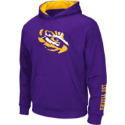 Colosseum Athletics Youth LSU Tigers Purple Performance Pullover Hoodie