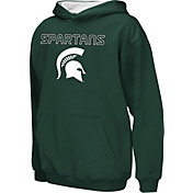 Colosseum Athletics Boys' Michigan State Spartans Green Poly Fleece Hoodie