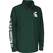 Colosseum Athletics Youth Michigan State Spartans Green Draft Performance Quarter-Zip