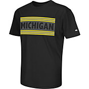 Colosseum Athletics Youth Michigan Wolverines Silver Bar Black T-Shirt