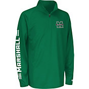 Colosseum Athletics Youth Marshall Thundering Herd Green Draft Performance Quarter-Zip