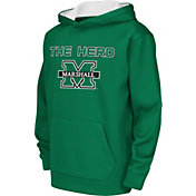 Colosseum Athletics Youth Marshall Thundering Herd Green Performance Hoodie