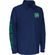 Colosseum Athletics Youth Notre Dame Fighting Irish Navy Draft Performance Quarter-Zip