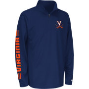 Colosseum Athletics Youth Virginia Cavaliers Blue Draft Performance Quarter-Zip