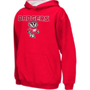 Colosseum Athletics Boys' Wisconsin Badgers Red Poly Fleece Hoodie