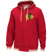 CCM Men's Chicago Blackhawks Fashion Fleece Red Full-Zip Hoodie
