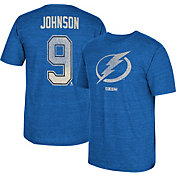 CCM Men's Tampa Bay Lightning Tyler Johnson #9 Vintage Replica Blue Player T-Shirt