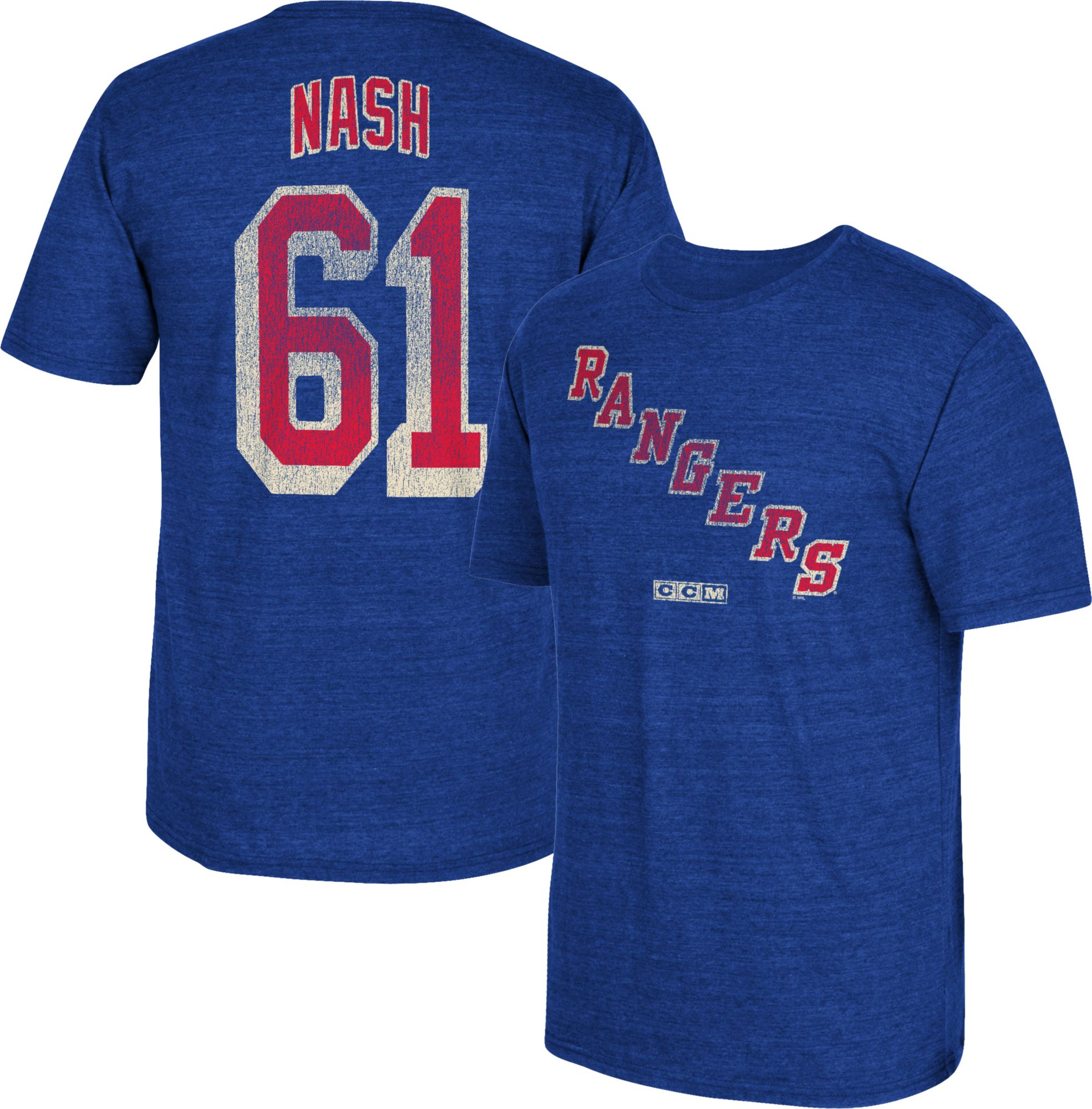 2e97554df ... Jersey - Replica CCM Mens New York Rangers Rick Nash 61 Vintage Replica  Royal ...
