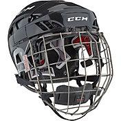 CCM Senior FitLite 80 Ice Hockey Helmet Combo
