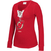 CCM Women's New Jersey Devils Red Lace Up Henley