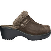 Crocs Women's Leather Cobbler Lined Clogs
