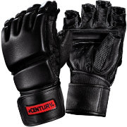 Men's Leather Wrap Gloves with Clinch Strap