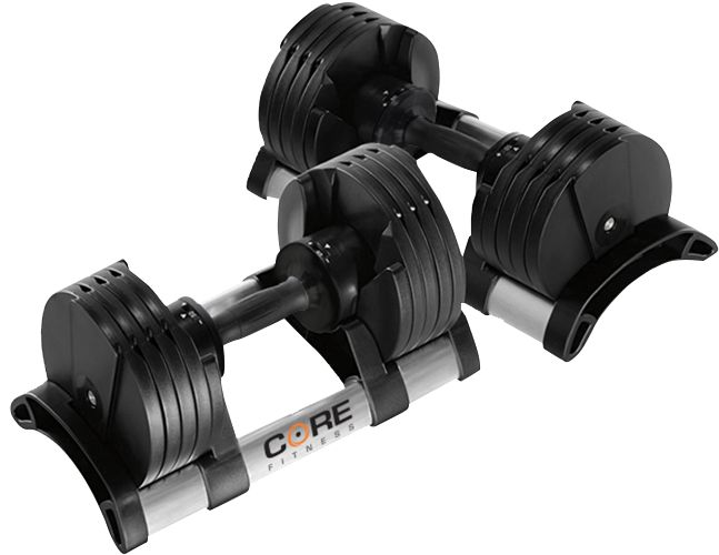 Core Fitness 5   50 Lb Adjustable Dumbbells   Pair | DICKu0027S Sporting Goods