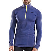 Craft Men's Wool Comfort Half Zip Mockneck Long Sleeve Shirt