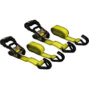 CargoLoc 12' U-Hook Ratchet Tie Down Straps- 2 Pack