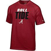 Champion Men's Alabama Crimson Tide Crimson Football Slogan T-Shirt